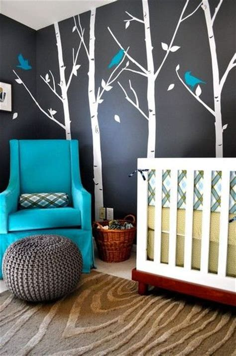 nursery grey teal and yellow babies things juxtapost