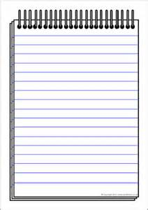 Free Notepad Template by Notepad Writing Template Sb7544 Sparklebox