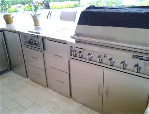 Outdoor Kitchen Cabinets Stainless Steel by Stainless Steel Outdoor Kitchens Steelkitchen