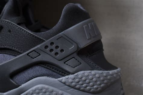 Nike Air Huarache Black Grey nike air huarache black gray the drop