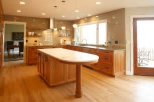 Circular Kitchen Island primarily white kitchen remodel features a beautiful kitchen island