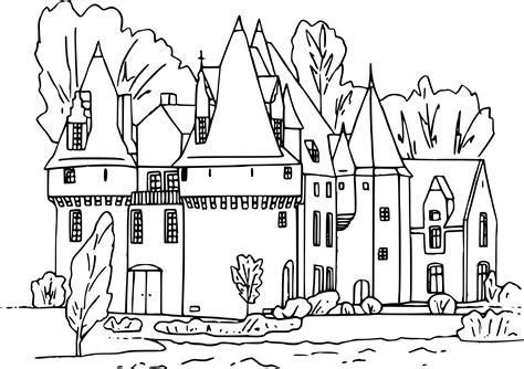 Coloriage Chateau Disney A Imprimer L