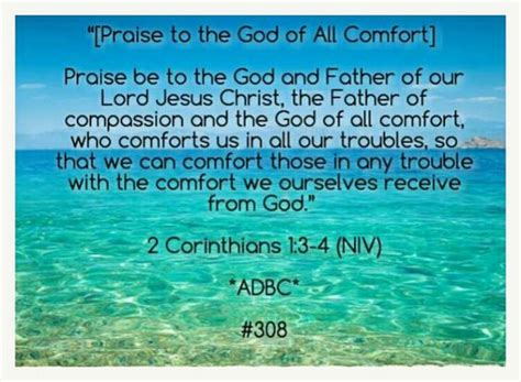 bible verses to give hope and comfort 2 corinthians 1 3 4 niv since the word quot receive quot at the