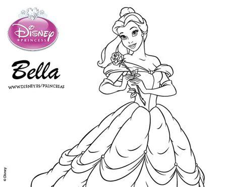 princesas de disney para colorear dibujo de la bella y la bestia princesa bella para