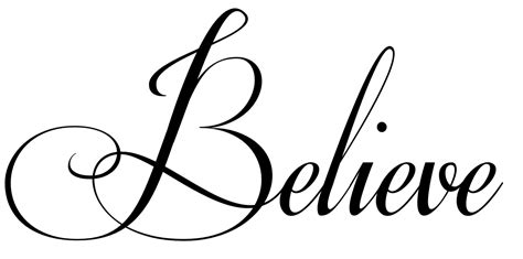 tattoo word png the word believe in cursive tattoo www imgkid com the