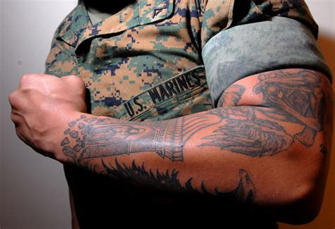 can you join the military with tattoos designs for mens