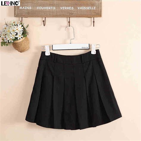 aliexpress buy preppy style black pleated skirts