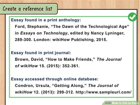 Citing Sources In Essays by 4 Ways To Cite An Essay Wikihow
