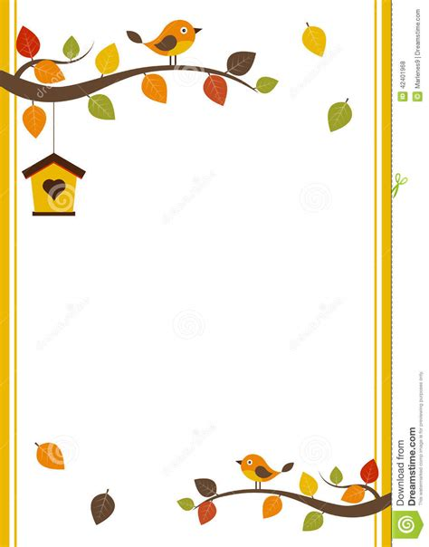fall card template stock vector image 42401968