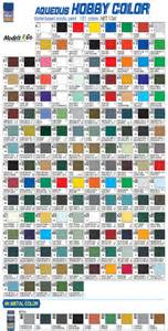 mr color mr hobby aqueous hobby colour chart