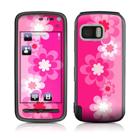 pink wallpaper for nokia 5800 retro pink flowers nokia 5800 xpressmusic skin covers