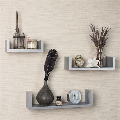 danya b 17 in x 4 in gray floating u laminated shelves