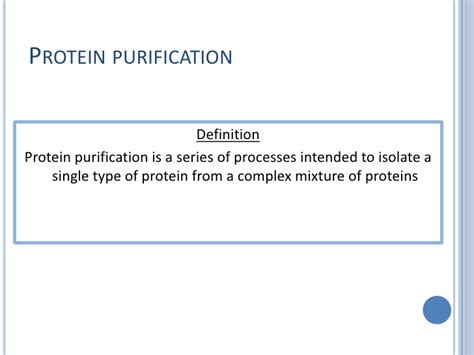 protein definition design and purification of proteins