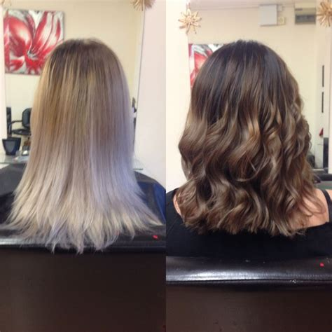 balayage highlights for grey hair before and after major hair transformation before and after from grey