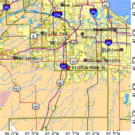 richton park, illinois (il) ~ population data, races