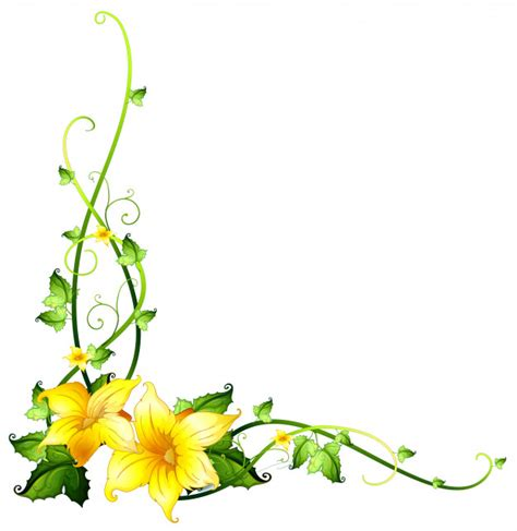 border design flower yellow border template with yellow flowers vector free download