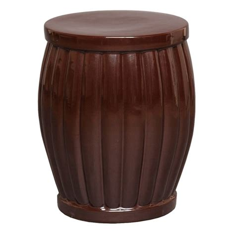 large brown fluted ceramic garden stool seven colonial