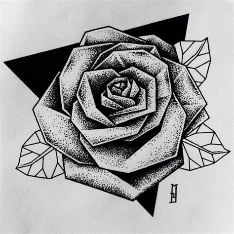 tattoo pen rose collection of 25 pen ink roses triangle tattoo design