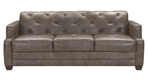dove grey leather sofa genuine leather sofa sleeper ezhandui com