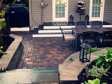 Paver Patio Ideas Retaining Walls Great Goats Landscapinggreat Goats
