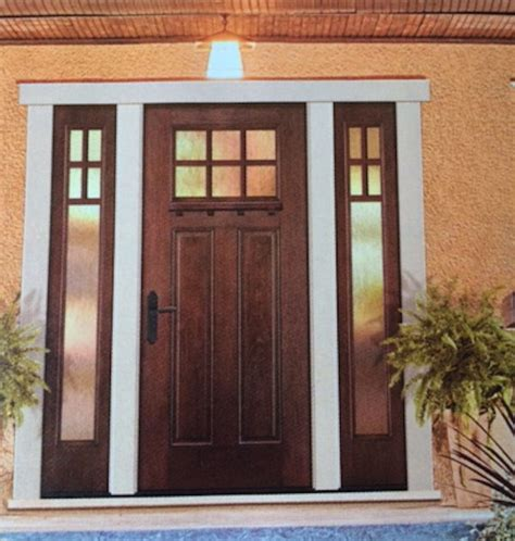 entry door with sidelights 8ft craftsman 6 lite knotty alder front entry door with 2 sidelights ebay