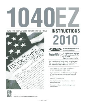 2010 1040ez Instructions - Fill Online, Printable ... W 4 Form Instructions Irs