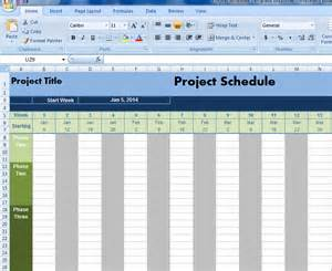 Free Project Schedule Template Excel by Project Schedule Template Excel Projectemplates