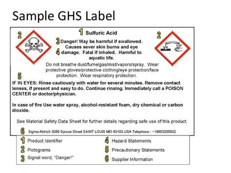 Hazcom Training Osha 2013 Requirement Osha Ghs Label Template