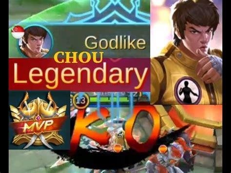 chou mobile legend mobile legends chou mvp highlights best build