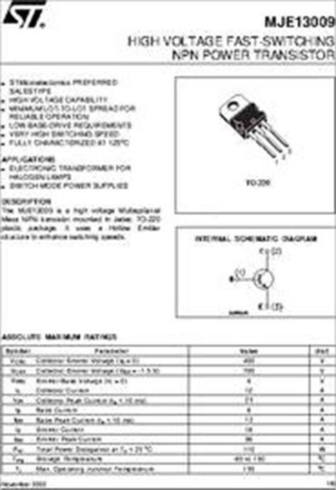 mje datasheet high voltage fast switching npn power