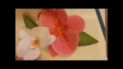 Orquidea De Papel Crepe | orquideas de papel crepe paso a paso