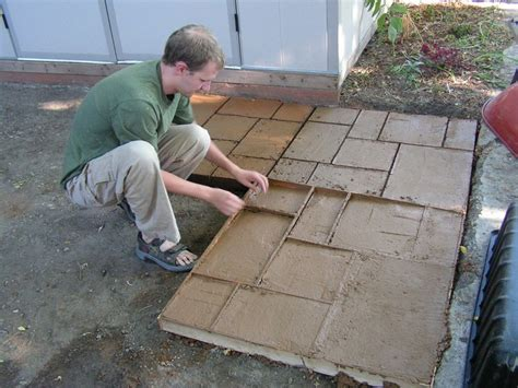 make your own patio pavers do it yourself cement patio