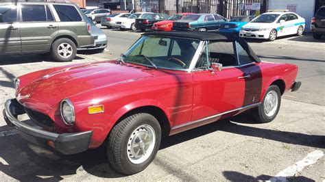 1975 fiat spider convertible for sale