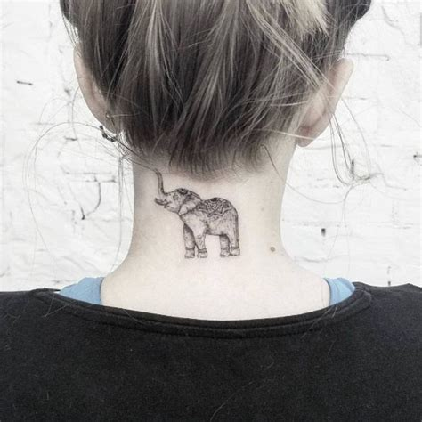 elephant tattoo neck 5917 best images about tattoos on women on pinterest
