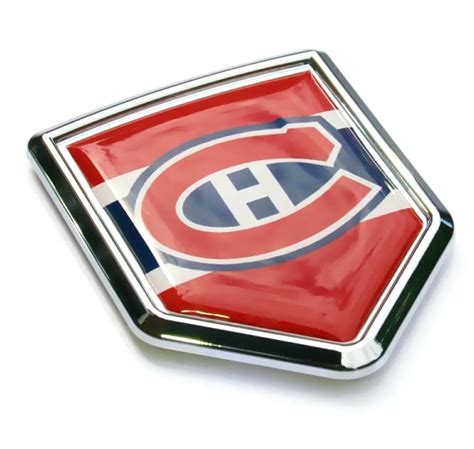 Auto Decals Montreal by Canadian Montreals Chrome Crest Emblem Car Decal