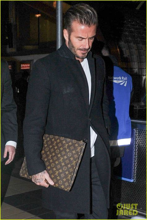 Louis Vuitton David Beckham With His Louis Vuitton Sac Squash And Pegase Luggage by David Beckham Shares Birthday Message For