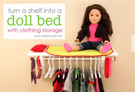 How Is On The Shelf Doll by Turn A Shelf Into A Doll Bed With Clothing Storage For 18