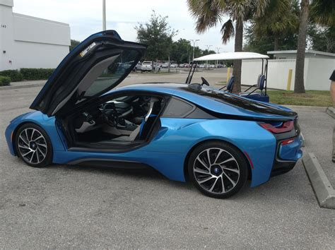 blue bmw i8 bmw i8 could go fully electric cleantechnica