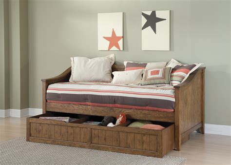Rustic Wood Twin Size Day Bed With Storage Trundle Of A Size Trundle Bed With Storage