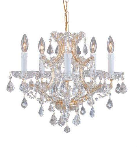 Small Gold Chandelier Gold Steel Small Chandelier With Polished Crystals By Crystorama