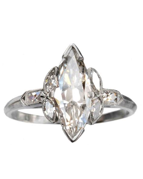 Marquise Engagement Ring by Marquise Cut Engagement Rings Martha Stewart