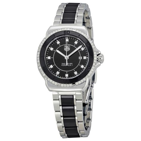 tag heuer ladies formula 1 watch tag heuer formula 1 black dial steel and ceramic ladies