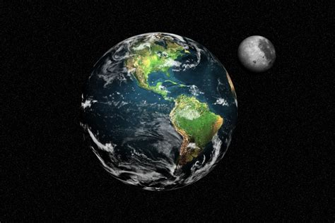 3d wallpaper of earth hd wallpaper earth and moon 3d look from space photograph
