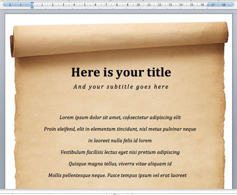 Vorlage Word Mittelalter alte pergament word dokumentvorlage f 252 r die