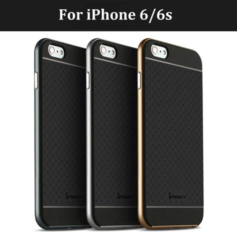 Ipaky Iphone 6 6g 6s Back Cover Armor Slim original ipaky brand for apple iphone 6 luxury fashion armor silicone back cover housing