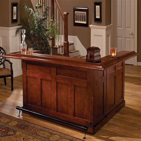Small Wooden Home Bar Hillsdale Furniture 6257 Classic Large Home Bar With Side