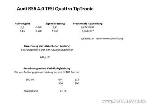 Audi Rs6 Leistung by Performance Messung Am Audi Rs6 Avant 4 0 Tfsi Und Sq5 3 0