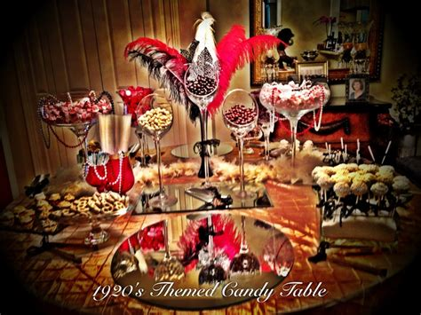 1920s Candy Table   Gatsby Gala Roaring Since the 20's