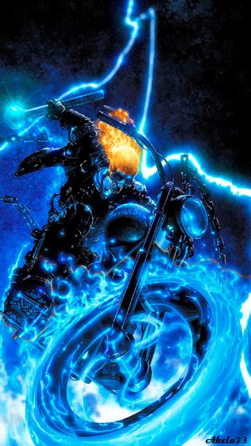 Ghost Rider Bike Live Wallpaper by Fire Ice Gif Fire Ice Smoke Gifs Gifs