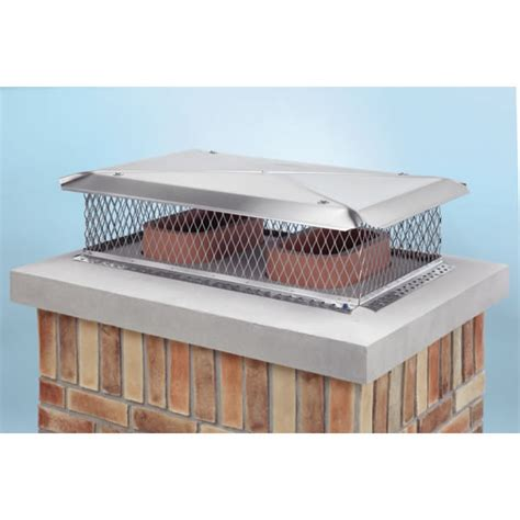Fireplace Cap by Gelco Model C 17 In X 29 In Base Stainless Steel Multi